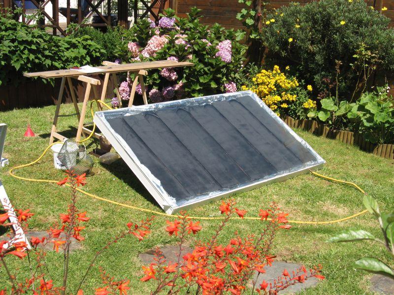 comment faire un panneau solaire thermique